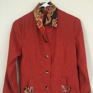 Jackets & Blazers - Ankara African Print Long Blazer